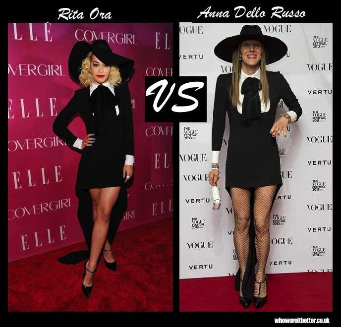 Rita Ora vs. Anna Dello Russo in Saint Laurent