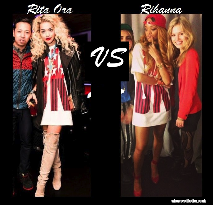 Rita Ora vs. Rihanna in DKNY x Opening Ceremony