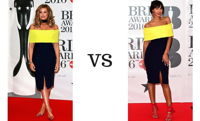 Jessica Wright vs Maya Jama at the Brit Awards 2016